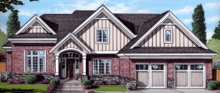 Craftsman House Plan - The Groveport 20047 - Front Exterior