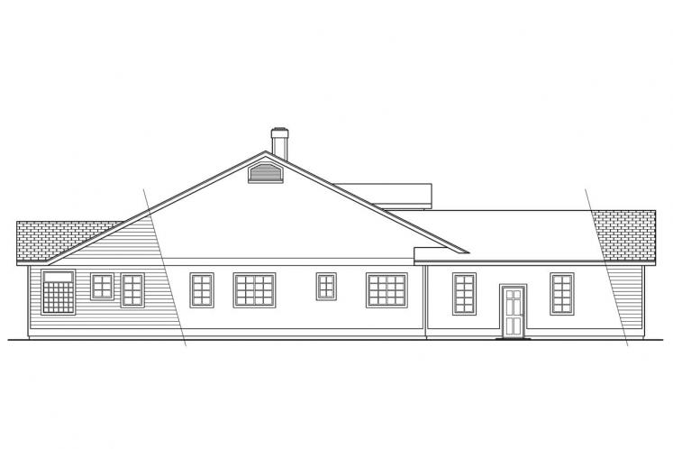 Traditional House Plan - Cortland 20057 - Left Exterior