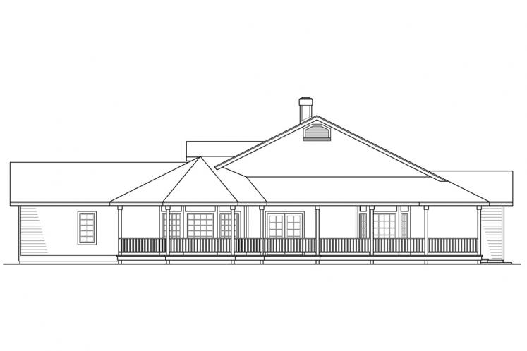 Country House Plan - Cortland 20057 - Right Exterior