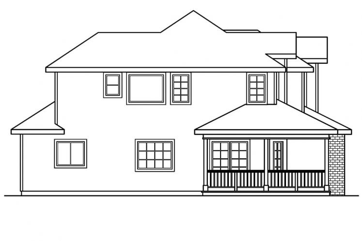 Country House Plan - Kaitlyn 20063 - Left Exterior
