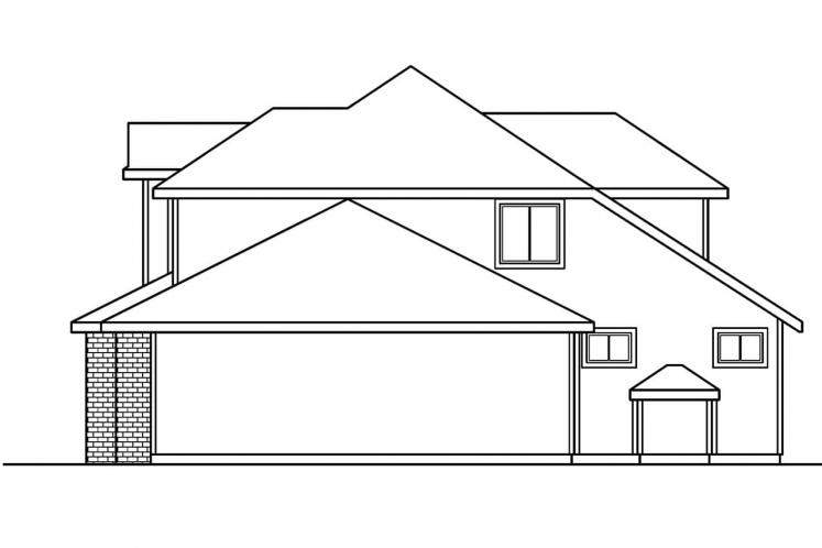Traditional House Plan - Kaitlyn 20063 - Right Exterior