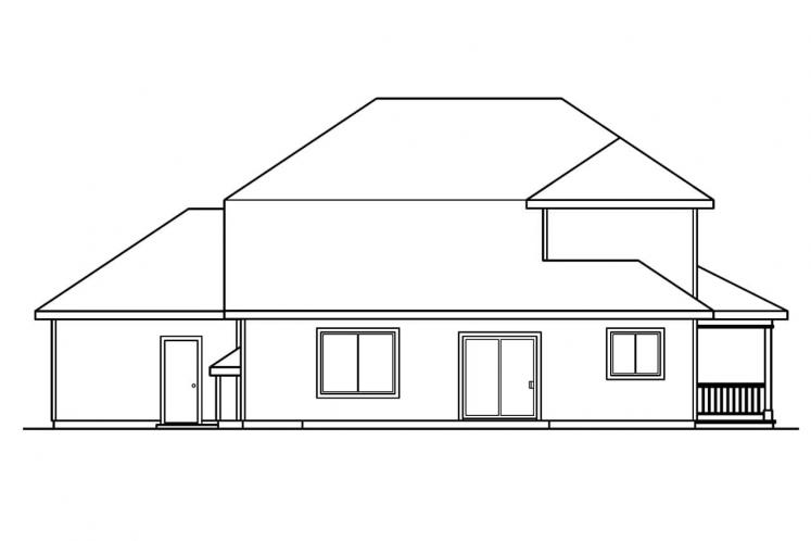 Traditional House Plan - Kaitlyn 20063 - Rear Exterior