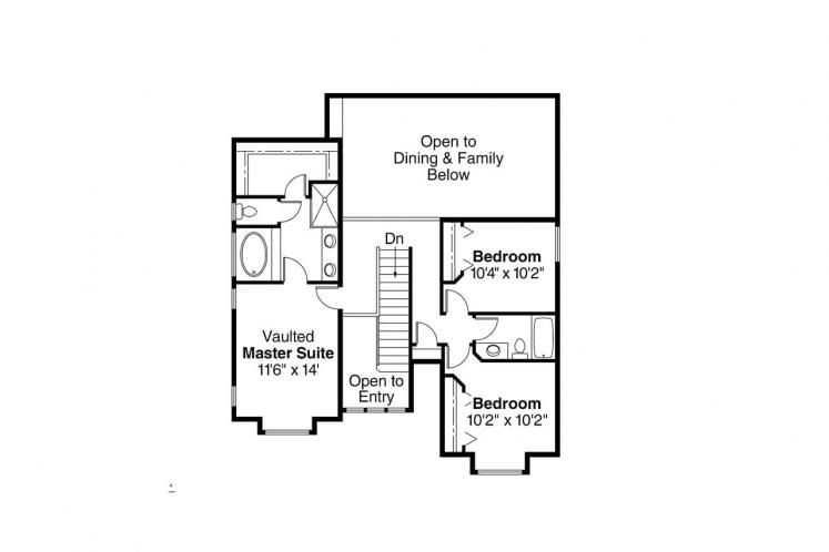 Traditional House Plan - Kaitlyn 20063 - 2nd Floor Plan