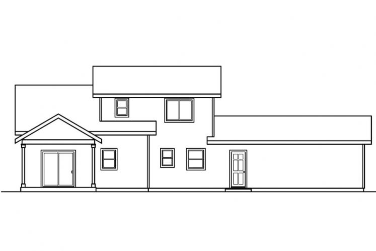 Country House Plan - Mathis 20072 - Rear Exterior