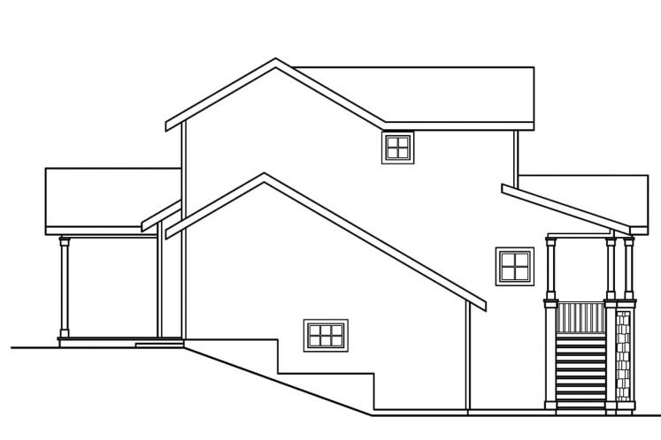 Traditional House Plan - Mathis 20072 - Left Exterior
