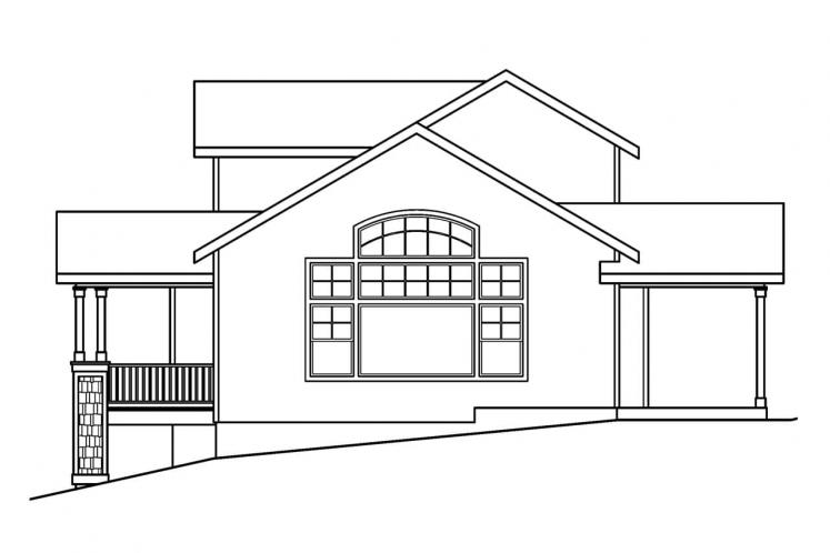 Craftsman House Plan - Mathis 20072 - Right Exterior