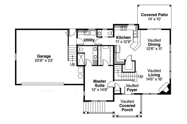 Country House Plan - Mathis 20072 - 1st Floor Plan