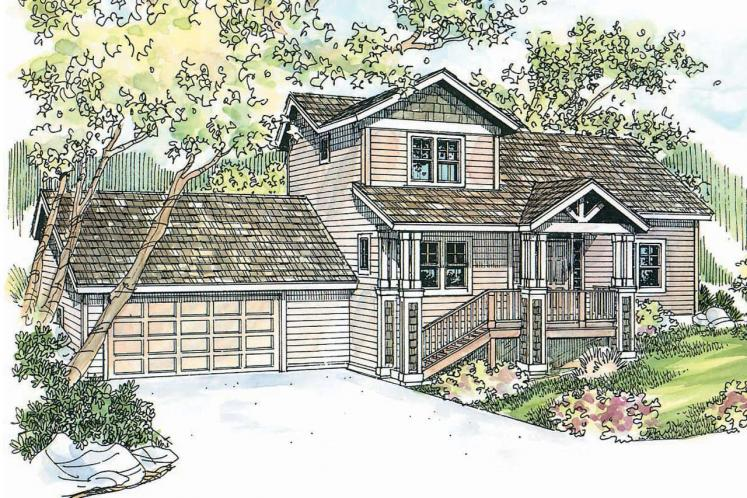 Craftsman House Plan - Mathis 20072 - Front Exterior