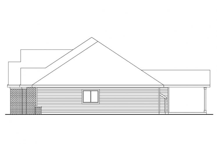 Traditional House Plan - Spencer 20117 - Right Exterior