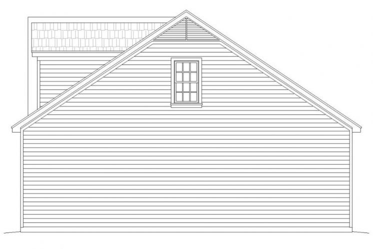 Traditional Garage Plan -  20161 - Right Exterior