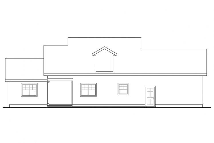 Lodge Style House Plan - Cloverport 20332 - Rear Exterior