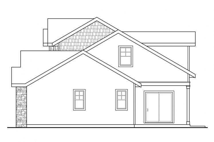 Lodge Style House Plan - Cloverport 20332 - Right Exterior