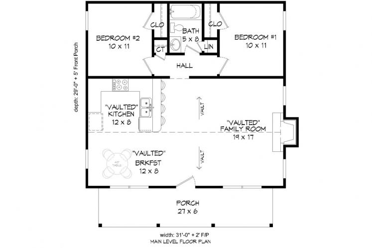 Country House Plan -  20496 - 1st Floor Plan