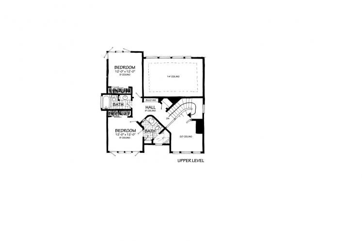 Contemporary House Plan - Esprit 20560 - 2nd Floor Plan