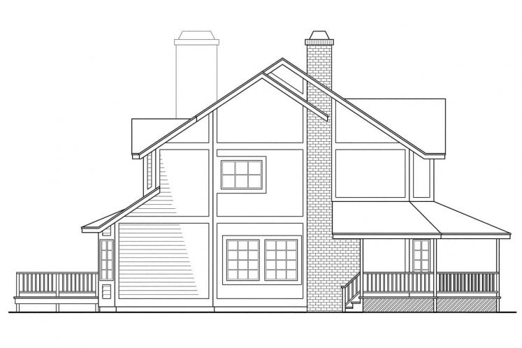Traditional House Plan - Thompson 20566 - Right Exterior