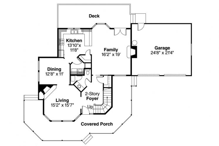 Country House Plan - Thompson 20566 - 1st Floor Plan