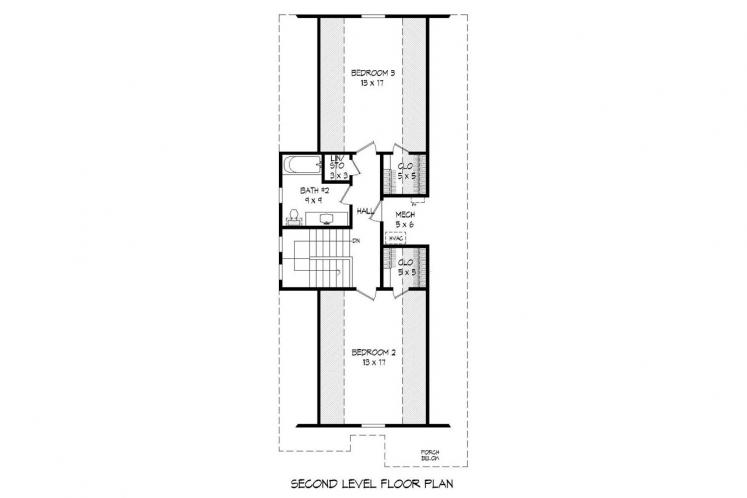 Traditional House Plan -  20627 - 2nd Floor Plan