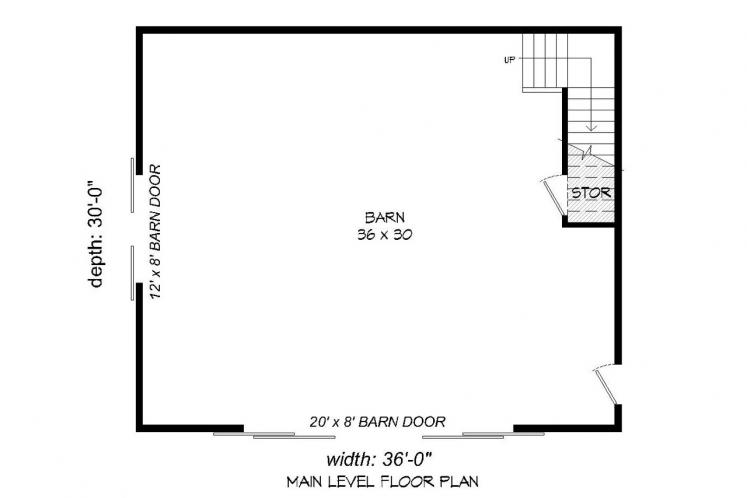 Farmhouse  -  20888 - 1st Floor Plan