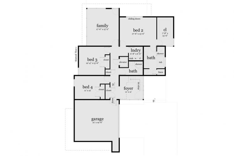 Modern House Plan - Skiatook 20901 - 1st Floor Plan