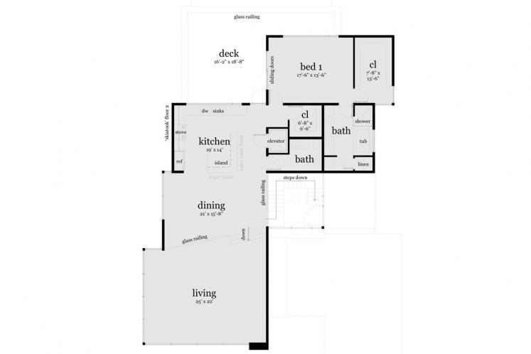 Contemporary House Plan - Skiatook 20901 - 2nd Floor Plan