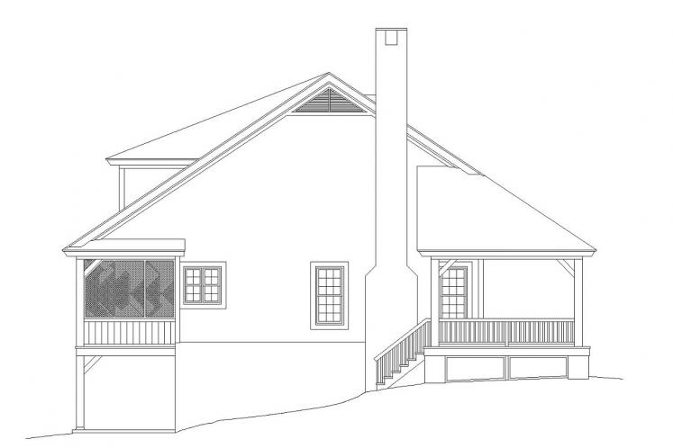 Lodge Style House Plan -  20907 - Left Exterior