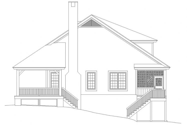 Country House Plan -  20907 - Right Exterior