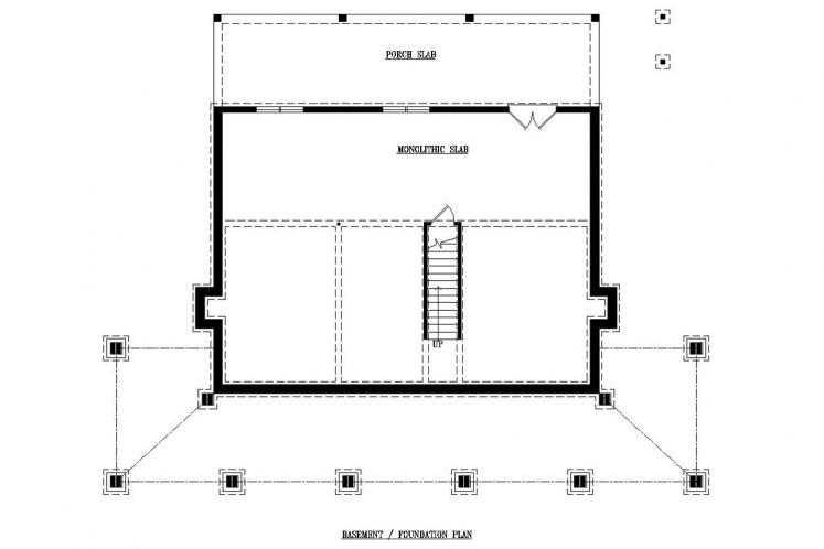 Country House Plan -  20907 - Basement Floor Plan