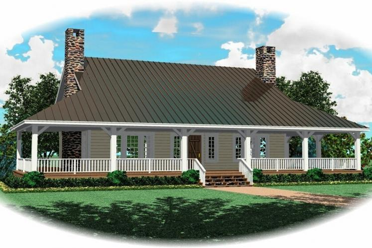Country House Plan -  20907 - Front Exterior