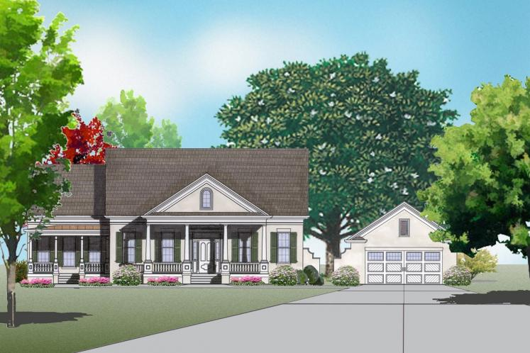 Classic House Plan -  20934 - Front Exterior