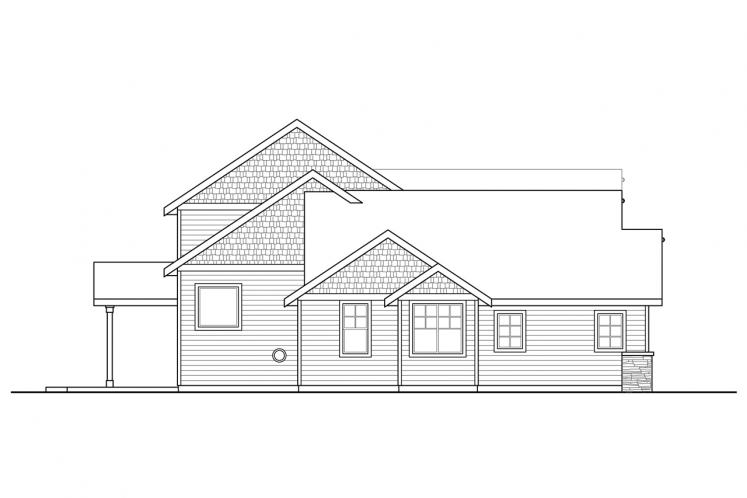 Traditional House Plan - Redwood 21003 - Left Exterior