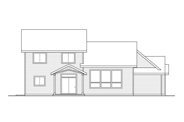 Country House Plan - Redwood 21003 - Rear Exterior