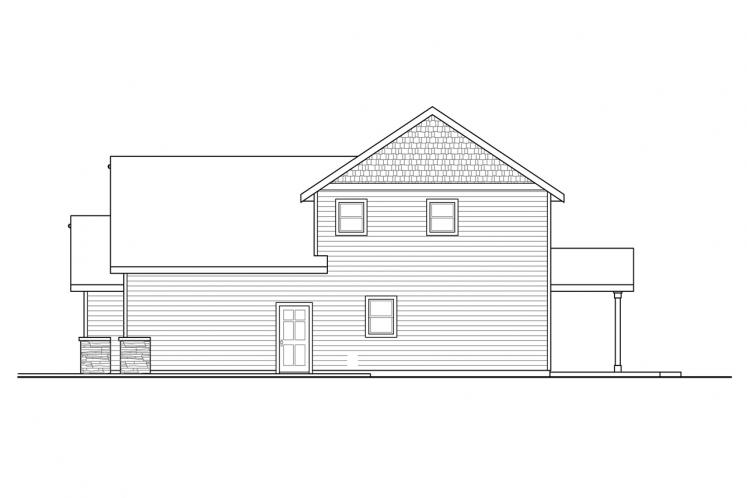 Country House Plan - Redwood 21003 - Right Exterior