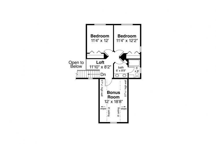 Country House Plan - Redwood 21003 - 2nd Floor Plan