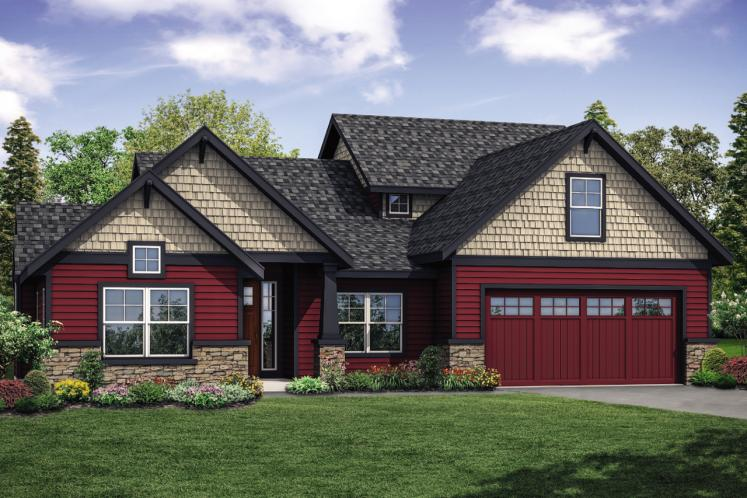 Traditional House Plan - Redwood 21003 - Front Exterior