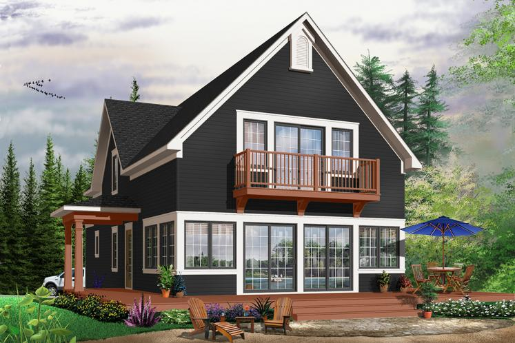 Cottage House Plan - Evergreene 21047 - Rear Exterior