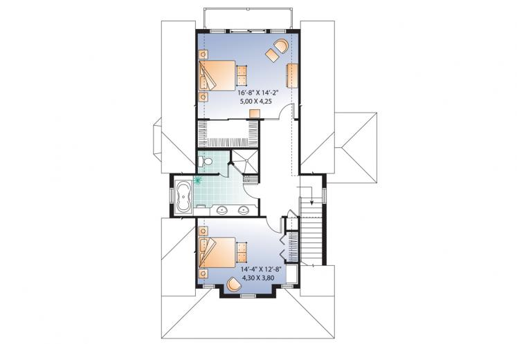 Country House Plan - Evergreene 21047 - 2nd Floor Plan