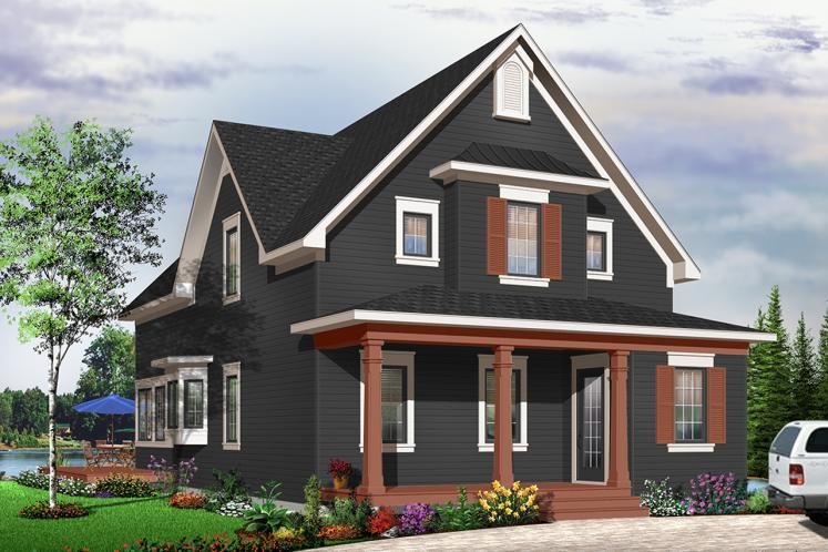 Country House Plan - Evergreene 21047 - Front Exterior
