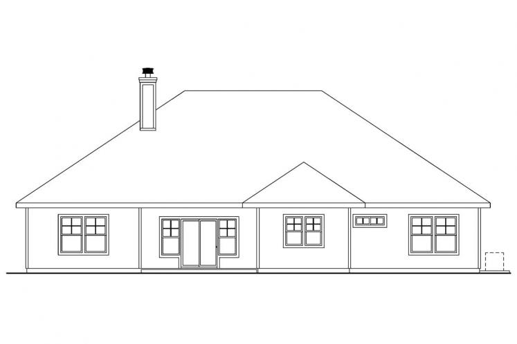Cottage House Plan - Whitingham 21152 - Rear Exterior