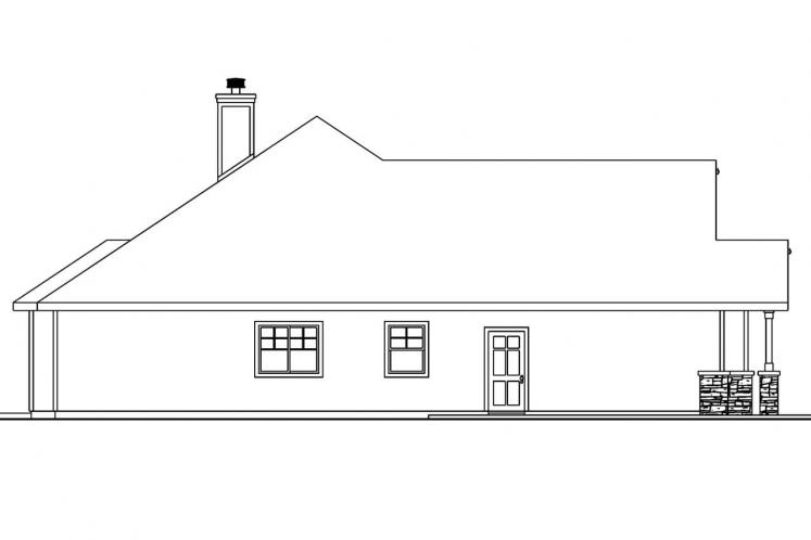 Ranch House Plan - Whitingham 21152 - Left Exterior