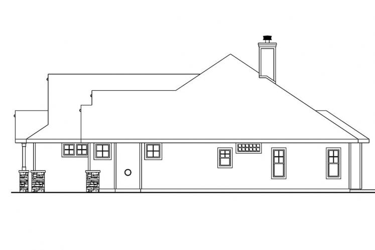 Craftsman House Plan - Whitingham 21152 - Right Exterior