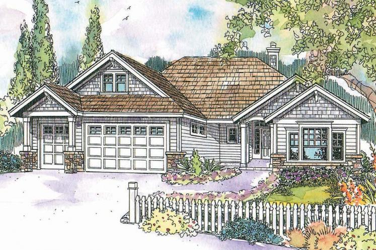 Craftsman House Plan - Whitingham 21152 - Front Exterior