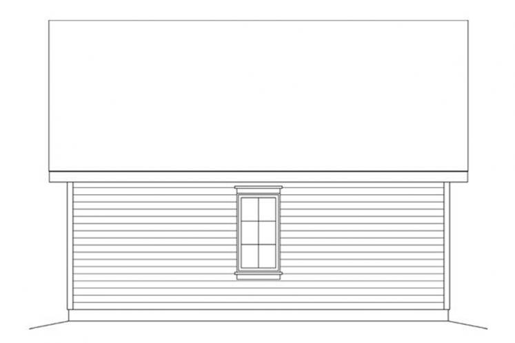 Traditional Garage Plan -  21176 - Rear Exterior