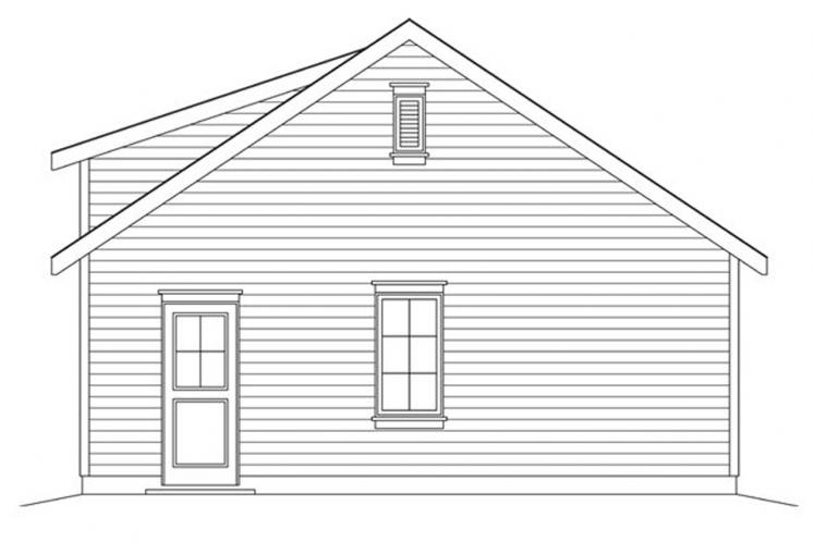 Traditional Garage Plan -  21176 - Right Exterior