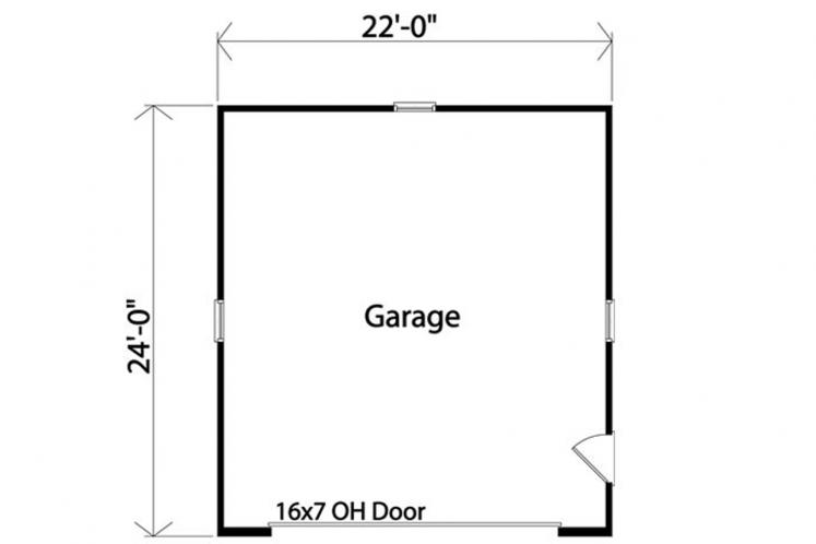 Craftsman Garage Plan -  21176 - 1st Floor Plan