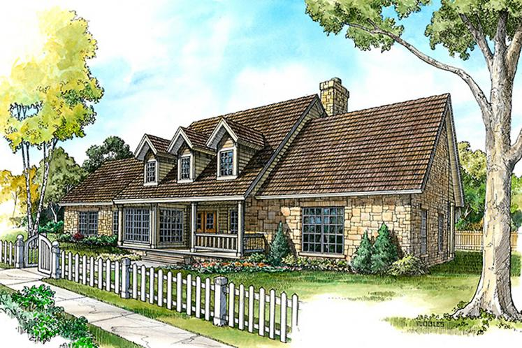Country House Plan -  21466 - Front Exterior