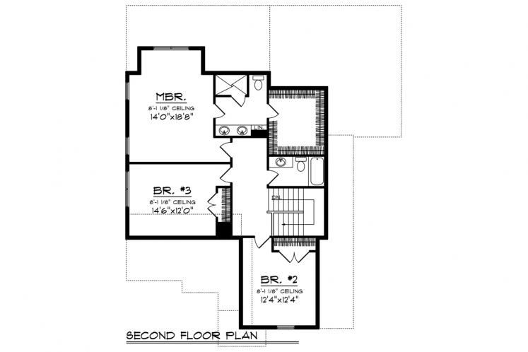 Cottage House Plan -  21482 - 2nd Floor Plan