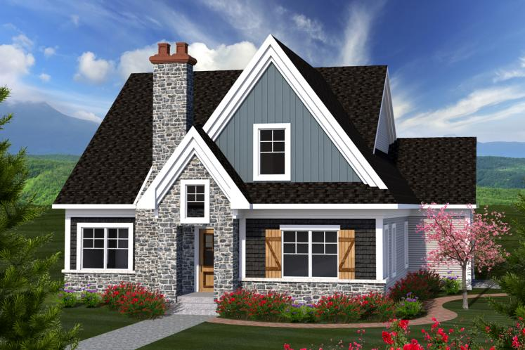 Cottage House Plan -  21482 - Front Exterior