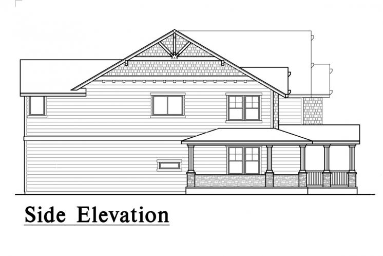 Lodge Style House Plan -  21496 - Right Exterior