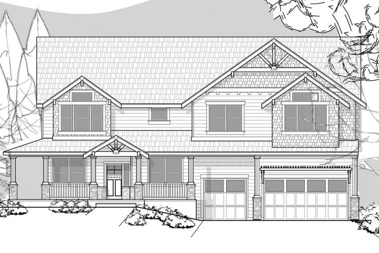 Lodge Style House Plan -  21496 - Front Exterior