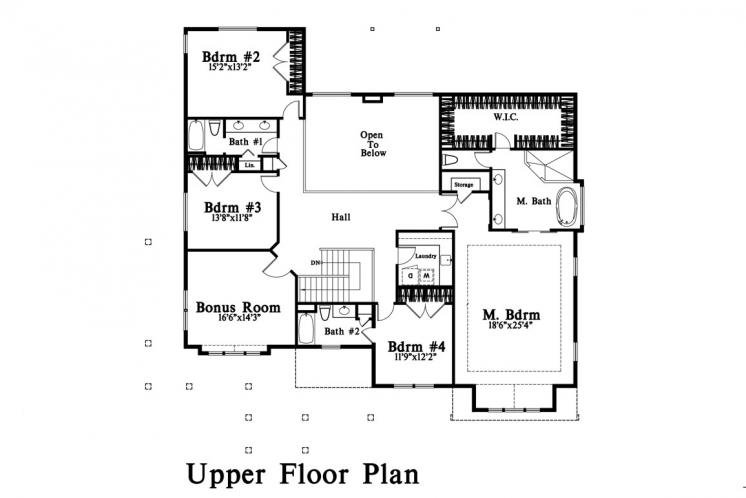 Lodge Style House Plan -  21496 - 2nd Floor Plan